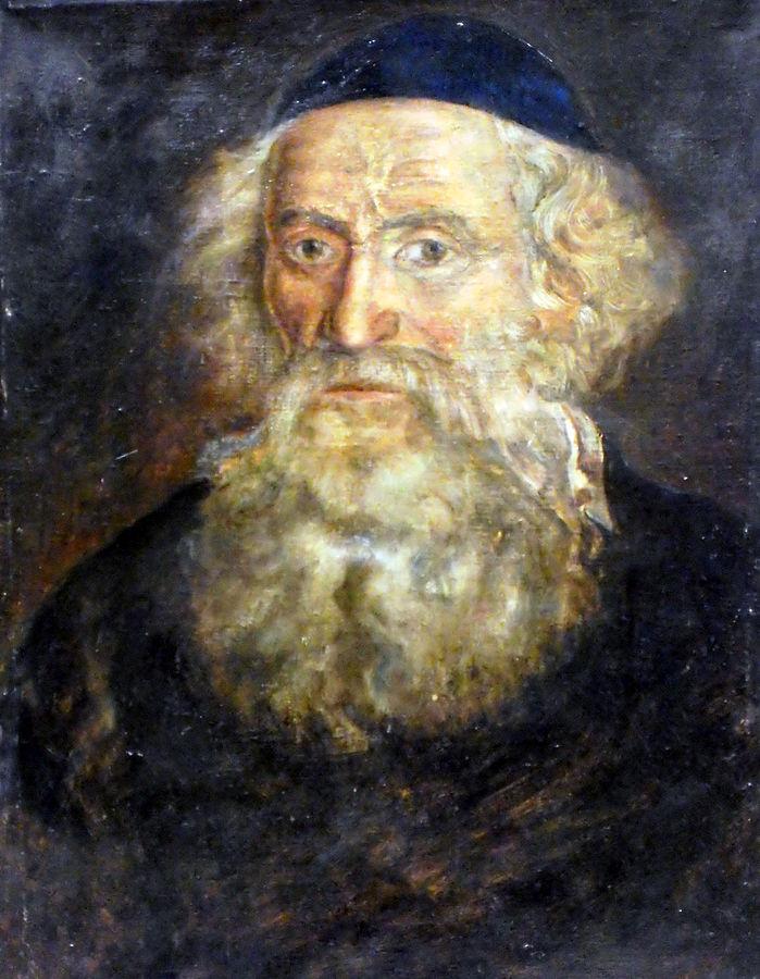 ר' חיים דוד ברנרד, דיוקן מאת צייר לא ידוע. שמן על בד