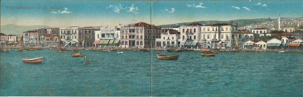 נמל סלוניקי הוא אחד הנמלים הגדולים ביוון ובמשך מאות שנים הוא משמש אחד השערים החשובים להובלת סחורה לבלקן. נמל סלוניקי, 1917