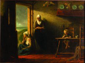 אחרי הסערה יוזף ישראלס (1824־1911) ראליזם שמן על בד, 111x146 ס״מ הולנד, 1858 אוסף ג׳ רוזנשטיין, מוזאון תל אביב לאמנות