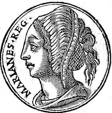 מטבע שעליו דמותה של מרים החשמונאית, 1553