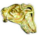 Gold ram's-head earring found in complex 169