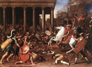 Destruction of the Temple in Jerusalem, Nicolas Poussin, oil on canvas, 1637