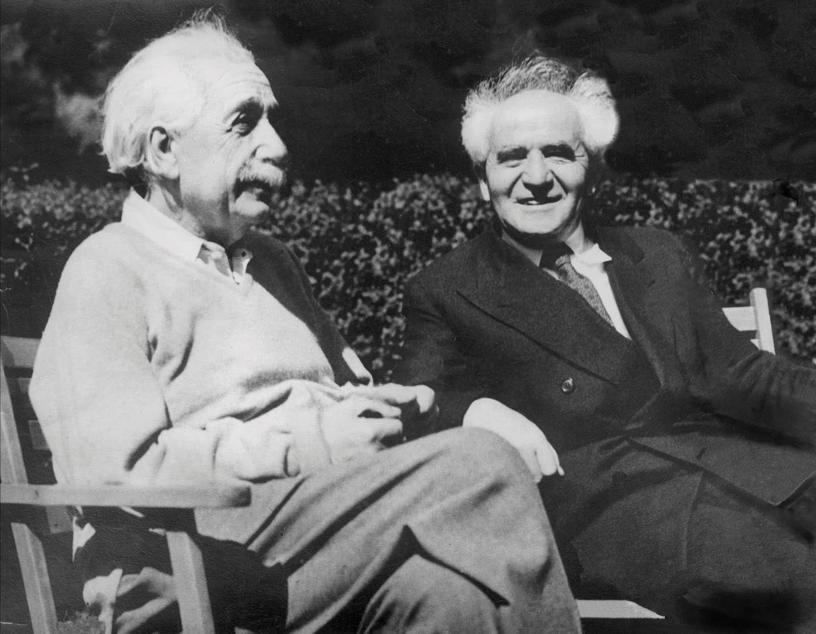 אהדה גלויה לציונות שלא הבשילה לכדי פעילות מעשית. דוד בן גוריון בחברת איינשטיין במפגש בארצות הברית, קיץ 1984