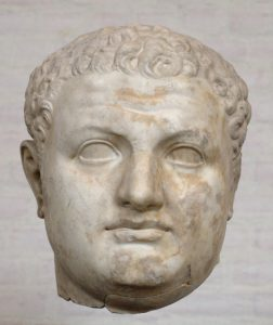The only remnant of a giant statue of Titus, in the Louvre. The estimated height of the statue was 3.2 m