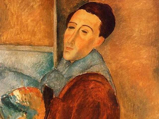 אמאדו מודיליאני, דיוקן עצמי, שמן על בד, 1919