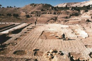 Jericho was central to Herod's administration and his kingdom's economy, and he built three palaces there. Impressions left in a floor in the third palace show that it was originally tiled with stone and marble in opus sectile
