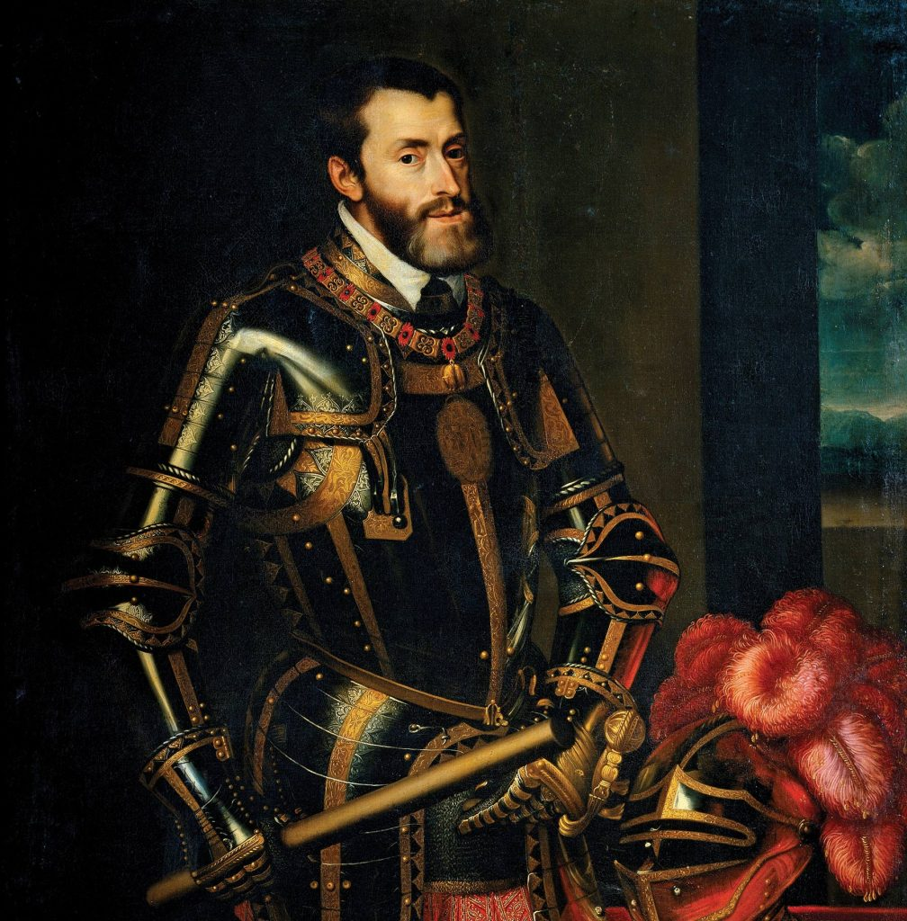 Charles V's reign was turbulent to say the least. He quarreled with Francis I of France, Ottoman sultan Suleiman the Magnificent, and Henry VIII of England, as well as with the Lutherans and their leader, Martin Luther, whom he eventually outlawed.