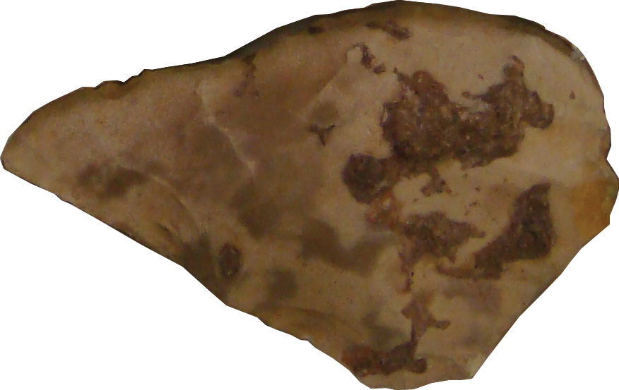 Prehistoric strata are dated mainly by their stone tools, such as this lower Paleolithic hand axe from the Tabun Cave in the Galilee, discovered by Dorothy Garod in the 1930s and on display in the British Museum