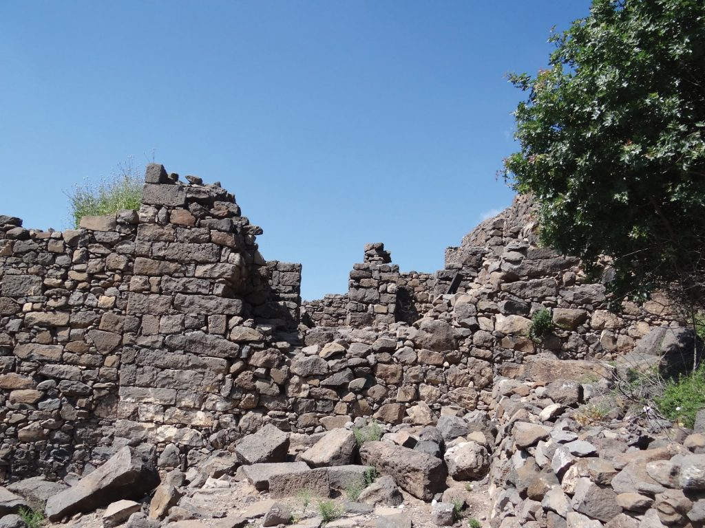 The beginning of the end. The weak point in the defensive walls of Gamla, breached by the Roman battering ram
