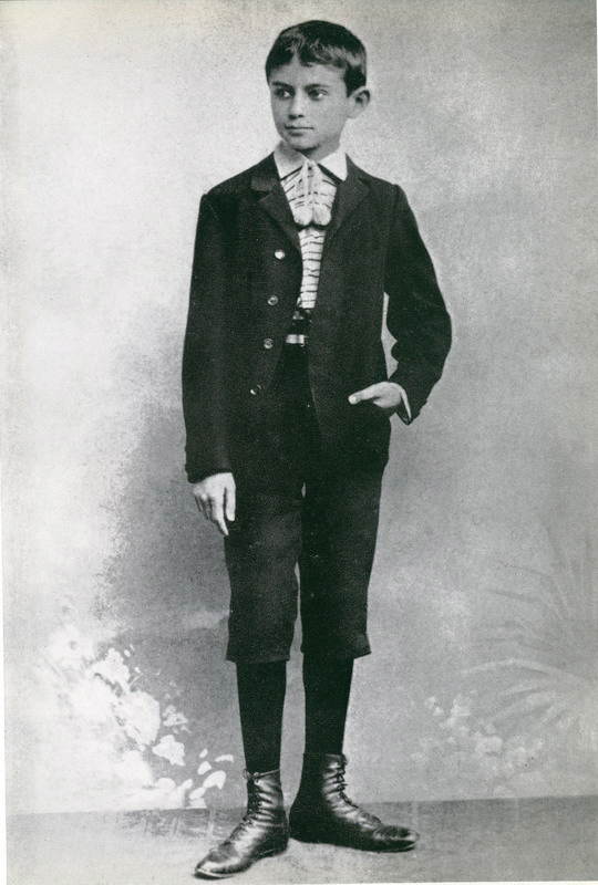 A rudimentary Jewish education was enough as far as Kafka's parents were concerned. Kafka dressed for his bar mitzva, 1896