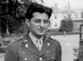 Captain Abraham Judah Klausner on duty in 1945