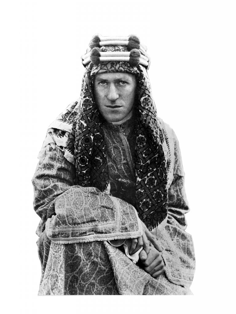 Going native. British liaison officer T. E. Lawrence helped Arab rebels in Transjordan systematically sabotage the Hejaz railway linking Egypt with the rest of the Ottoman Empire, thus diverting Turkish resources from the main war effort against the Allies