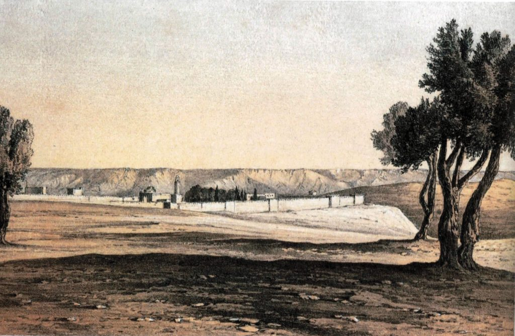שקיעה בירושלים ביום חורף