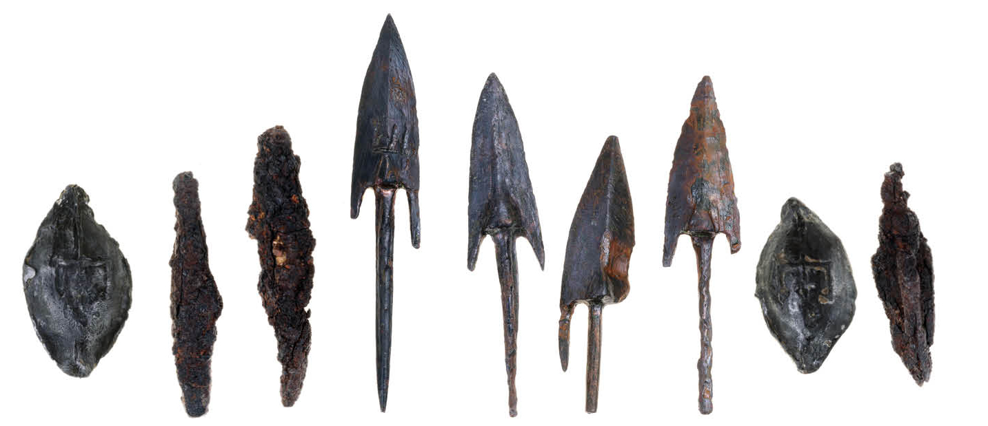 These Seleucid arrowheads and slingshot discovered within bow-shot of the fortress were pointing in the direction of approaching foes