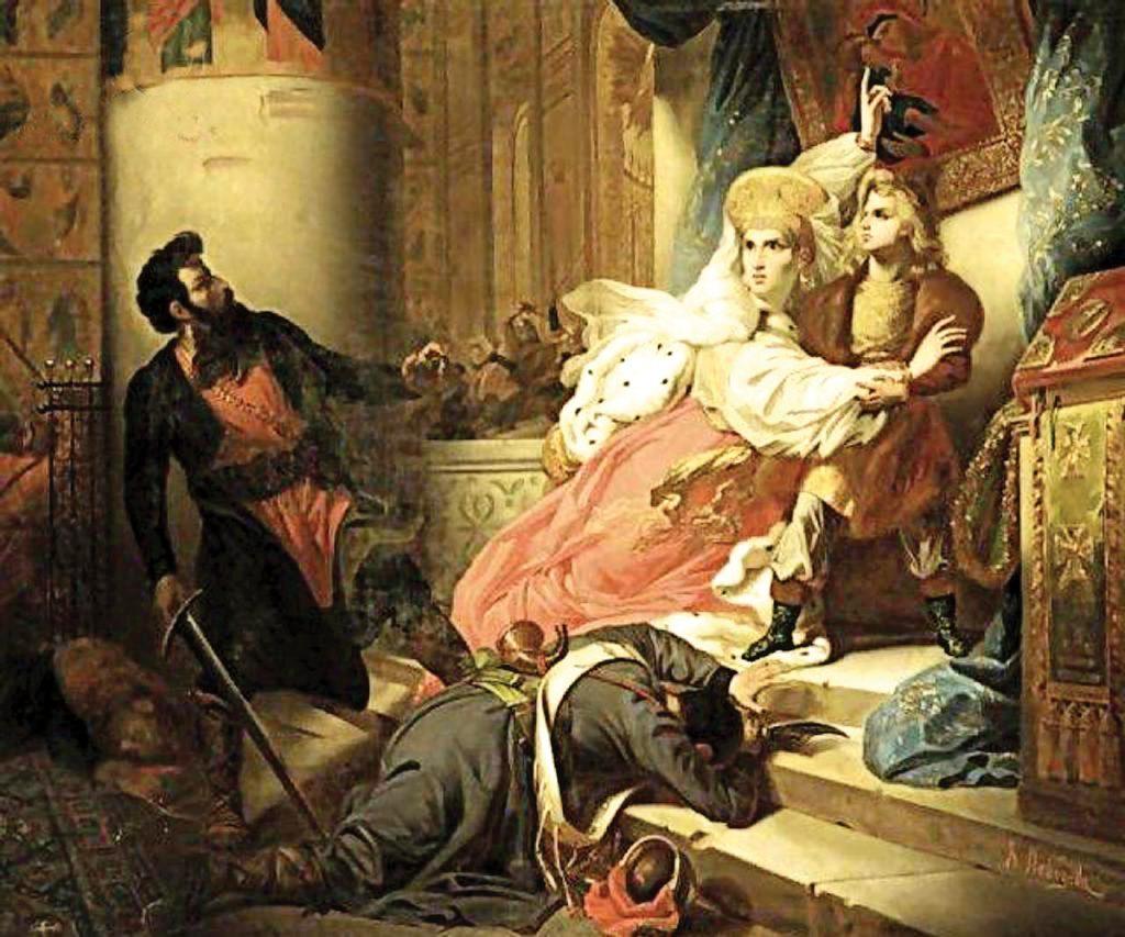 היחסים בין פיוטר לבין סופיה ואיוון, אֵחיו למחצה, היו מתוחים בשל המחלוקת מי ישלוט באימפריה. סופיה מגנה על איוון במהלך המרד ב־1682.