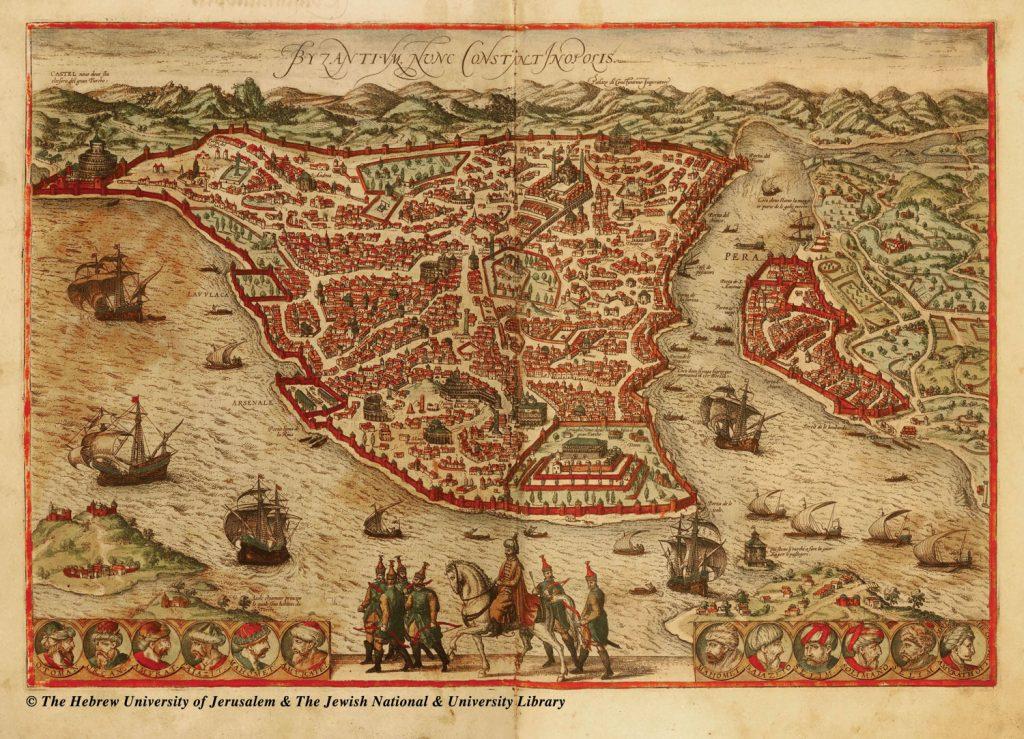 בנדודיו עם משפחתו עבר רבי יוסף קארו בקהילות יהודיות רבות ונוכח לדעת שהן מחזיקות מסורות הלכתיות שונות. הוא הגיע גם למצרים, ובדרכו לארץ ישראל עבר בבירת האימפריה העות'מאנית קונסטנטינופול. מפות הערים קהיר וקונסטנטינופול, מתוך 'מפות העולם' של בראון והוגנברג, כרך א', קלן 1572