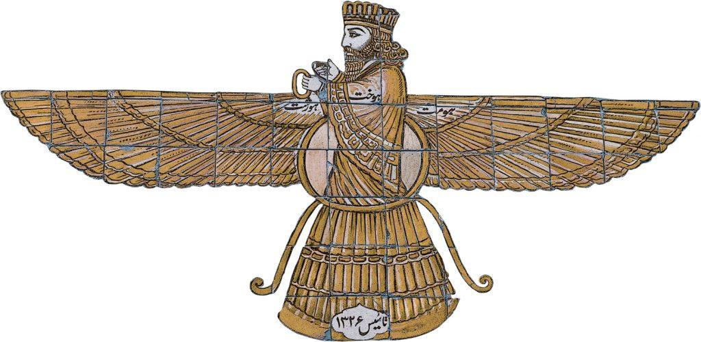 סמל הפרוואשי מסמל במאות השנים האחרונות את הדת הזורואסטרית. המחקר חלוק בשאלה האם במקורו סימל הפרוואשי את האל אהורה מאזדה עצמו או את 'נשמות הקדמונים' המהוות מושא פולחן כשלעצמן. ציור קיר במקדש אש בעיר טאפט, איראן