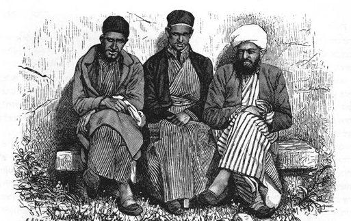 שומרונים בשכם בסוף המאה ה-19
