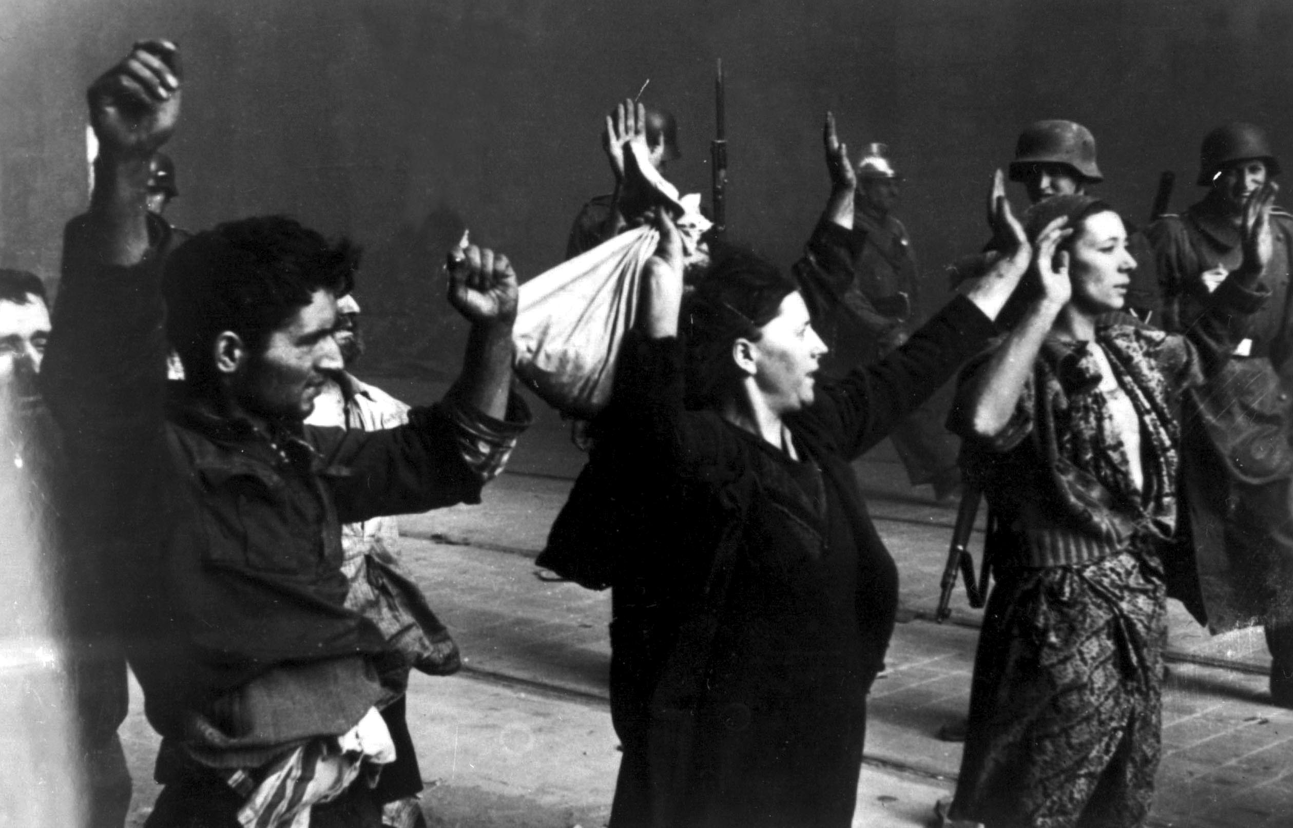 Honorable surrender. Rabbi Menahem Ziemba's outlook evidently triumphed in the end; for many Jews, the Warsaw ghetto uprising represents a spark of Jewish heroism in the dark humiliation of the Holocaust. Jewish women captured at the end of the revolt