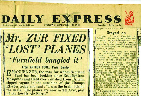 Not all Zurr's purchases arrived as smoothly as the Beaufighters, as this Daily Mail headline from September 1948 attests