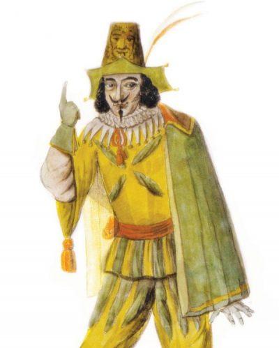 מעל הכללים. קלף הג'וקר, המייצג את ליצן החצר, עומד בראש ההיררכיה במשחק הקלפים. ליצן חצר בציור מהמאה ה–19