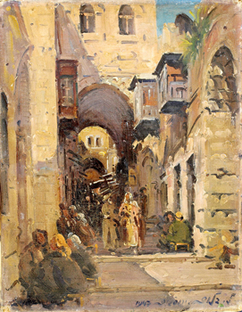 Via Dolorosa, oil on canvas, 1947/ Ludwig Blum