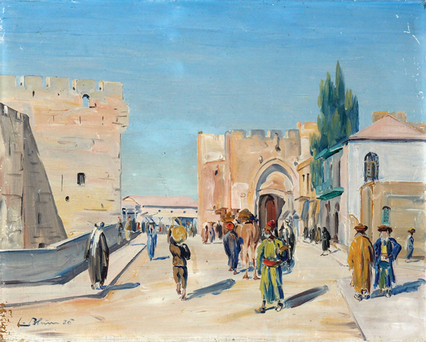 Jaffa Gate, oil on canvas, 1929/ Ludwig Blum