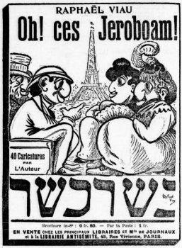 פעילותו האנטישמית של אדואר דרימון זכתה להצלחה רבה בציבור. קריקטורה אנטישמית בעיתון La Libre Parole, אוגוסט 1901
