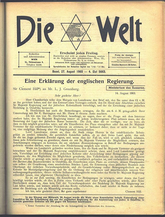 Herzl's only Jewish play was serialized in Die Welt, the Zionist newspaper he founded