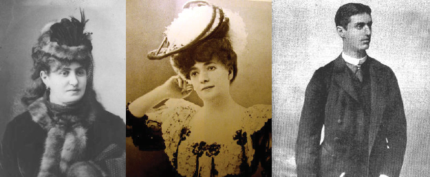 Left: Julie Naschauer Herzl, the wealthy young bride who couldn't understand her husband, Jeanette Herzl (née Diamant), the Zionist visionary's mother, to whom – like his hero Jacob Samuel – he was devoted and young Herzl
