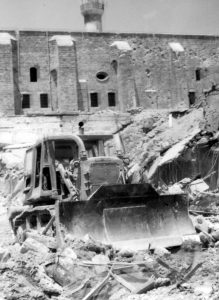 The price of war. IDF bulldozers in Sidon's ancient quarter, much of which was destroyed beyond repair