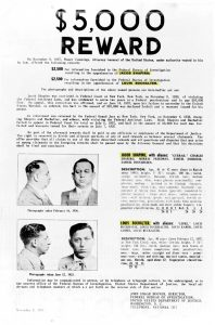 "Jacob Shapiro and Lepke Buchalter in a ""wanted"" poster dated July 1937"