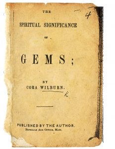 שער ספרה של וילברן על סגולתן של אבני החן, ובו שירים לכל חודש העוסקים באבנים ובתכונותיהן הרוחניות והרפואיות. מסצ'וסטס, 1868