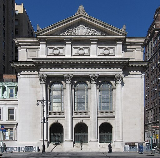 Shearith Israel, the first Jewish community in the U.S., moved around New York until the current synagogue was built in 1897