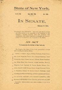 "the New York State Senate act incorporating ""the Kehillah of New York City"""