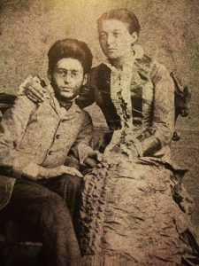 דבורה ואליעזר בן יהודה לאחר חתונתם