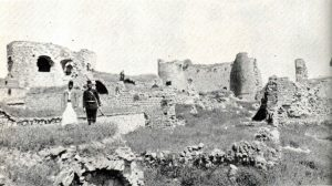 שרידי המצודה של דאהר אל עומר בטבריה, 1893