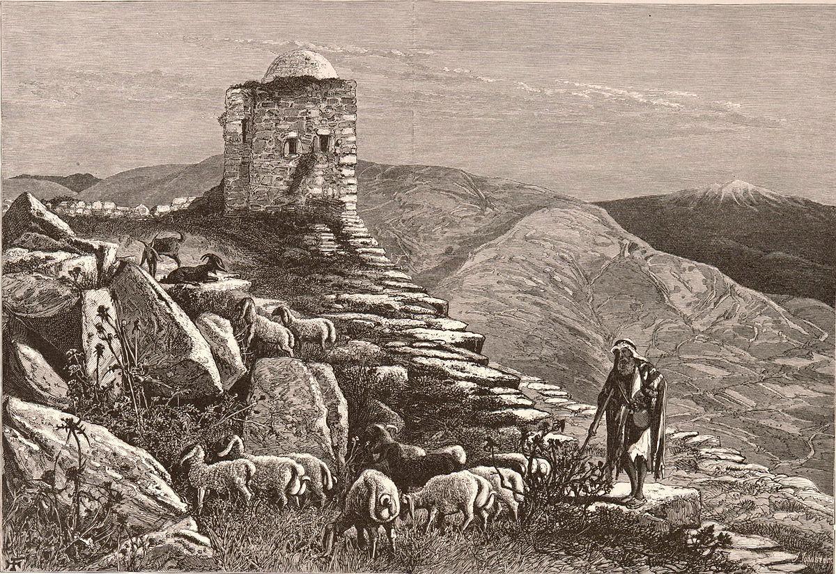 הריסות הר גריזים, סביב 1880