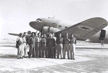 Ben-Gurion envisioned a modern army equipped with tanks, planes, and battleships as well as rifles and artillery. With the crew of the Dakota, which flew him to Eilat in 1949
