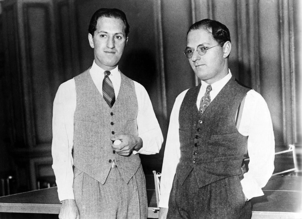 George wrote the music, Ira the words. The brothers Gershwin, 1925