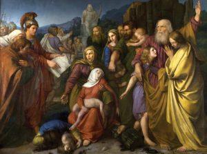 בספר יוסיפון מופיעה גרסה מוקצנת של סיפור האישה ששבעת בניה נהרגו על קידוש השם. וויצק שטטלר, סביב 1840