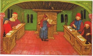 כדי להתפלל צריך היה להאיר את בית הכנסת. בית הכנסת באמיליה שאיטליה, סוף המאה ה-15
