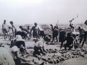 קבוצות חלוצים מאורגנות היו חידוש שהחל בימי העלייה השלישית והן היו לסימנה של התקופה. חברי גדוד העבודה סוללים כביש בעמק יזרעאל