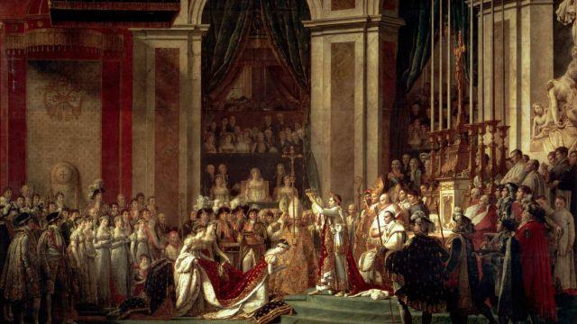 נפוליאון מוכתר כקיסר, ז'ק לואי דוד, שמן על בד, 1807