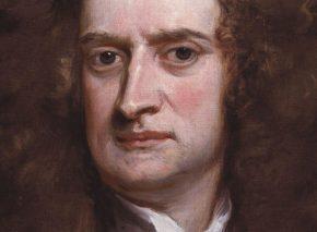 סר אייזק ניוטון בשיא הקריירה שלו. גודפרי קנלר, שמן על בד, 1702