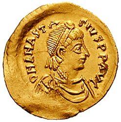 מטבע זהב של אנסטסיוס הראשון