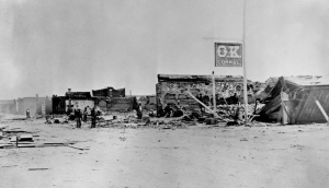 ב-1882 פרצה שריפה באו קיי קוראל. המקום לאחר השריפה