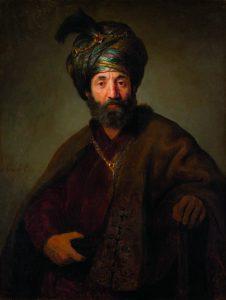 בשנים האחרונות היו שזיהו את הדמות בציורו של רמברנדט 'גבר בלבוש אוריינטלי' עם שמואל פאלאג'י שפעל בהולנד — ארצו של רמברנדט — אולם ספק רב אם יש אמת בזיהוי זה. הצייר ההולנדי הדגול צייר אמנם לא מעט יהודים, אך הוא נולד ב־1606 והיה רק בן עשר כששמואל פאלאג'י נפטר. שמן על בד, 1634