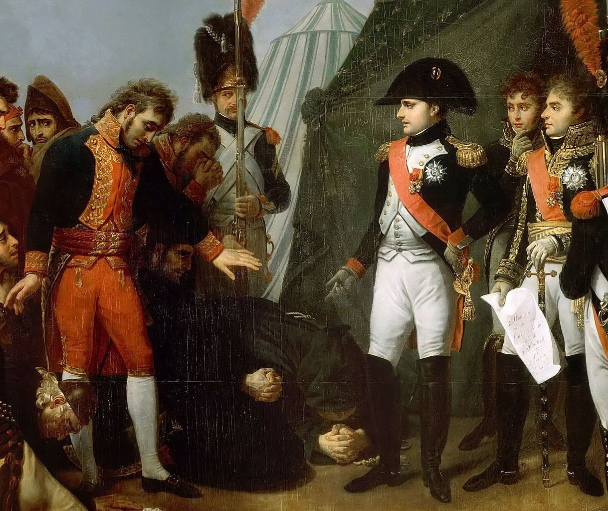 נפולאון מקבל את כניעת מדריד. ז'אן אנטואן גרו, שמן על בד, 1808