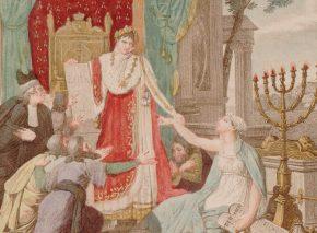נפולאון משחרר את היהודים, הדפס צבוע המבוסס על הדפס מ-1806